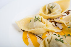 Sweet pumpkin ravioli Stock Photography
