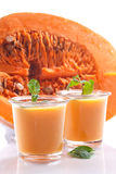 Sweet pumpkin smoothies Royalty Free Stock Photography
