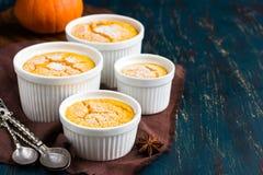 Sweet pumpkin  souffle. Selective focus Stock Photography