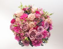 Sweet purple bridal bouquet Stock Photos