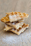 Sweet pyramid of waffel slices Stock Image
