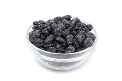 Sweet raisins in a glass Royalty Free Stock Photos