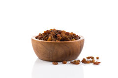 Sweet raisins on white Royalty Free Stock Image