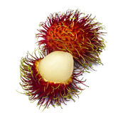 Sweet rambutan isolated on white. Background Royalty Free Stock Image