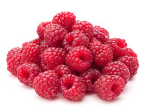 Sweet raspberry isolated on white background cutout Stock Photo