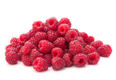 Sweet raspberry isolated on white background cutout Stock Image