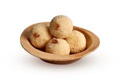 Sweet rava laddu. Camera shot on sweet rava laddu with white background Stock Photography