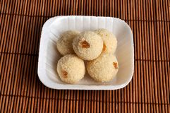 Sweet rava laddu with white background. Camera shot on sweet rava laddu with white background Stock Photos