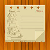 Sweet recipe vector card template. Stock Photography