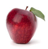 Sweet red apple with green leaf Royalty Free Stock Photography