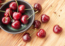Sweet red cherries Stock Photo
