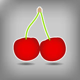 Sweet red cherry vector background. This is file of EPS10 format Stock Images