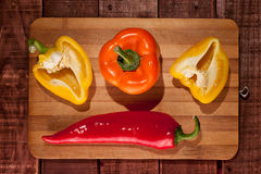 Sweet and red chili pepper Royalty Free Stock Photo