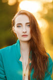 Sweet red-haired girl Royalty Free Stock Photography