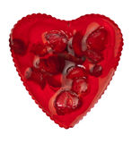 Sweet red heart Stock Photo