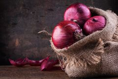 Sweet red onions Royalty Free Stock Images