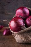 Sweet red onions Stock Image