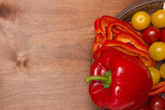 Sweet red pepper Stock Photo