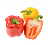 Sweet red pepper isolated. On white background Royalty Free Stock Image