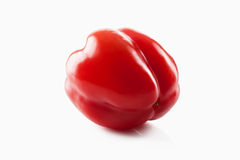 Sweet red pepper isolated on white background Stock Photos