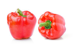 Sweet red pepper isolated on white background Stock Photo