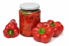 Sweet red peppers royalty free stock photos