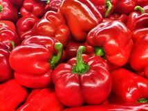 Sweet red peppers Stock Photos