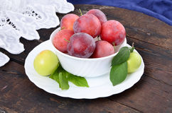 Sweet red plum Stock Images