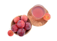 Sweet red plum Stock Photo