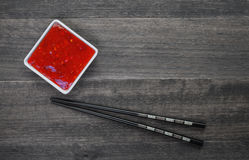 Sweet red  sauce Stock Images