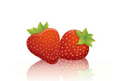 Sweet red strawberries Royalty Free Stock Photo