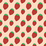 Sweet Red Strawberry pattern Stock Image