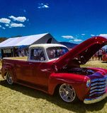 Sweet red truck royalty free stock photography