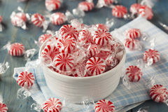 Sweet Red and White Peppermint Candy Royalty Free Stock Photos