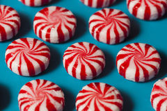 Sweet Red and White Peppermint Candy Royalty Free Stock Image