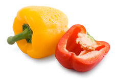 Sweet red and yellow pepper Royalty Free Stock Image