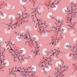 Sweet Retro Seamless pattern ,blooming garden flowers in delicat vector illustration