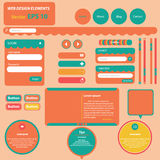 Sweet retro web design elements. Menu,login bar,search and etc Royalty Free Stock Photo