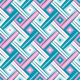 First Wrhombus Sweet Blue Pink Complicated Rhombus Webbing Oblique Seamless Pattern. 