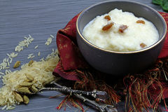 Sweet Rice kheer or pudding stock image