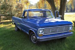 Sweet ride vintage blue truck royalty free stock photo