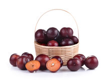 Sweet ripe cherry in the basket Stock Images