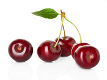 Sweet ripe cherry, berries isolated on white Royalty Free Stock Photography