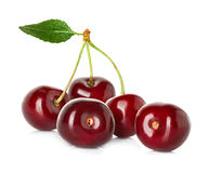 Sweet ripe cherry, berries isolated on white Stock Image