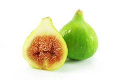Sweet ripe figs. Cut on a  white background Royalty Free Stock Photos