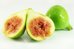 Sweet ripe figs. Isolated, closeup Royalty Free Stock Photo