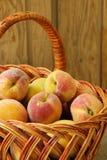 Sweet ripe peaches Stock Photos