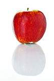 Sweet ripe red apple  on white background Stock Image