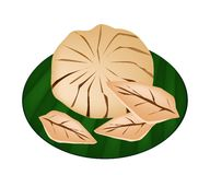 Sweet Ripe Santol Fruit on A Green Banana Leaf Stock Photography