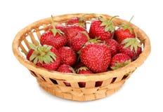 Sweet ripe strawberries in basket Royalty Free Stock Image